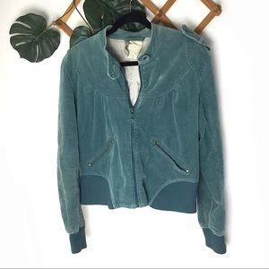Anthro Plus Fours Blue. Elves Bomber Jacket 14